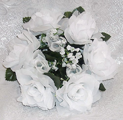 - 6 Candle Rings Many Colors Wedding Party Centerpieces Silk Flowers Roses