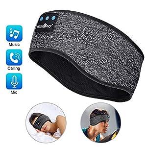 MUSICOZY Sleep Headphones Bluetooth Headband, Wireless Music Sleeping Headphones Noise Cancelling Sleep Mask Earbuds…