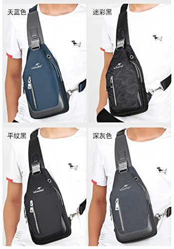 Messenger Leisure Bicycle Spinning Small Bag Backpack Chest Change Riding Mobile Blue Men's Phone Flht Oxford 7qXYw