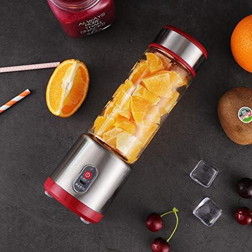 HS1 Licuadora, exprimidor portátil de Carga USB, hogar de Frutas y Jugo de Verduras automática, 6 Hojas de Acero Inoxidable 304 Cuchillo