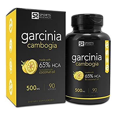 Pure Garcinia Cambogia Infused with Organic Coconut Oil | 2-in-1 Support for Healthy Weight Management | (90 softgels)