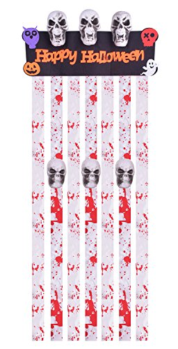 Halloween Decorations Target (Curtains for Door with Scary Skulls Decorations for Halloween Door Curtains)