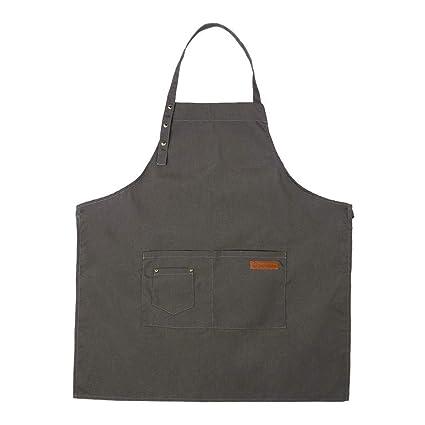 Domybest Delantal Ajustable Hosteleria, Color Puro Delantales de Cintura Larga con Bolsillo Catering Chef Delantal