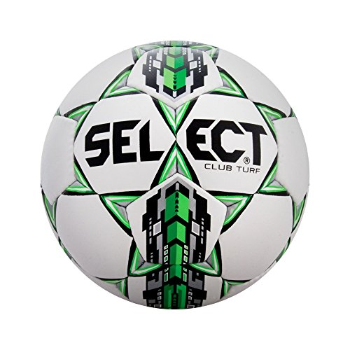 SELECT Club Turf Soccer Ball, White/Green, Size (Soccer Club)