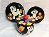 Two 8'' Pet Bowls for Food and Water and a Treat Jar. Personalized at no Charge. Signed by Artist, Debby Carman.