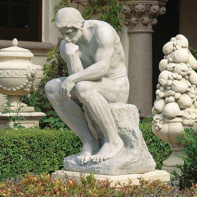 Design Toscano Rodin's Thinker Man Statue, Estate, 25 Inch, Polyresin, Antique Stone (Antique Statues Outdoor)