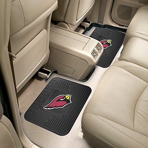 - Fanmats 12349 NFL - 14 in. x17 in. - NFL - Arizona Cardinals Backseat Utility Mats 2 Pack