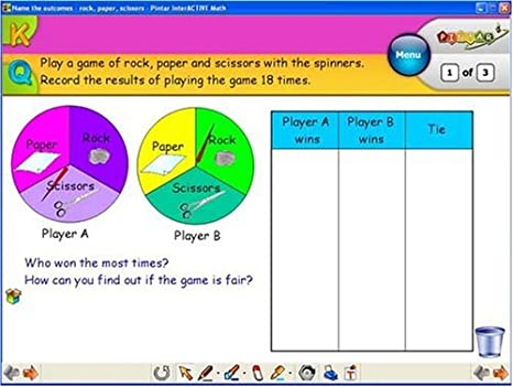 Counting Number worksheets maths probability worksheets : Amazon.com : InterActive Math Lessons: Fractions & Probability ...