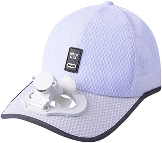 Lomsarsh Sombrero con ventilador pequeño, ventilador de verano ...