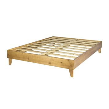 platform bed frame made in the usa w 100 north american pine wood - Solid Wood Platform Bed Frame King
