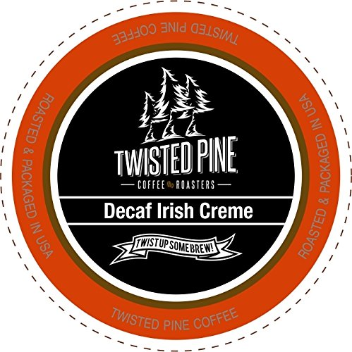 Twisted Pine Coffee Decaf Irish Creme, Flavored Decaf Coffee, Single-Serve Cups for Keurig K-Cup Brewers, 12 Count