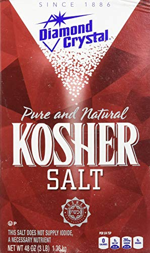 Diamond Crystal Pure and Natural Kosher Salt, 48oz (Pack of 3) ()