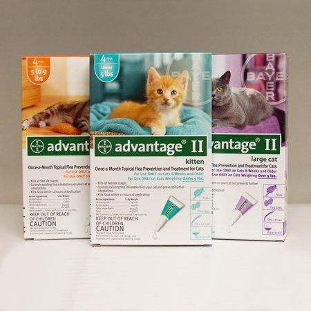 Bayer Animal Health Advantage II Topical Flea Control - Over 9 lbs - 6 Pack by Bayer Animal Health