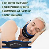 Calily Health Fully Adjustable Anti-Snoring Chin Strap - Natural and Instant Snore Relief - Stop Snoring Solution - Fast, Natural and Simple