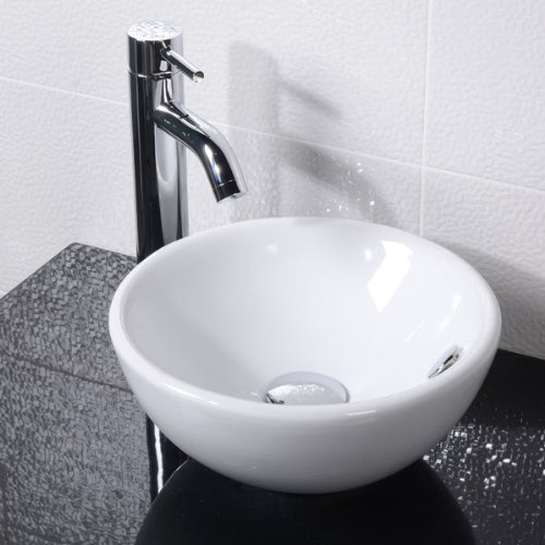 Countertop Sink Bathroom Basin Bowl White Ceramic Oval Better Bathrooms Outlet