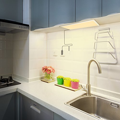 Under Cabinet Lighting, OxyLED Under Cabinet Lights, Extra Large Panel LED Under Cabinet Light, Dimmable LED Under Counter Lights for Kitchen, Art Studio, Attic (12W, 750lm, Warm White 3000K) by OxyLED (Image #7)