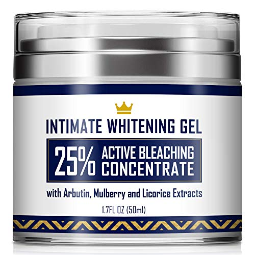 affordable Intimate Whitening Cream - Made in USA Skin Lightening Gel for Body, Face, Bikini and Sensitive Areas - Underarm Bleaching Cream with Mulberry Extract, Arbutin, Licorice Extract - 1.7oz