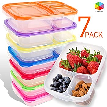 easylunchboxes 3 compartment bento lunch box containers set of 4 classic kitchen. Black Bedroom Furniture Sets. Home Design Ideas