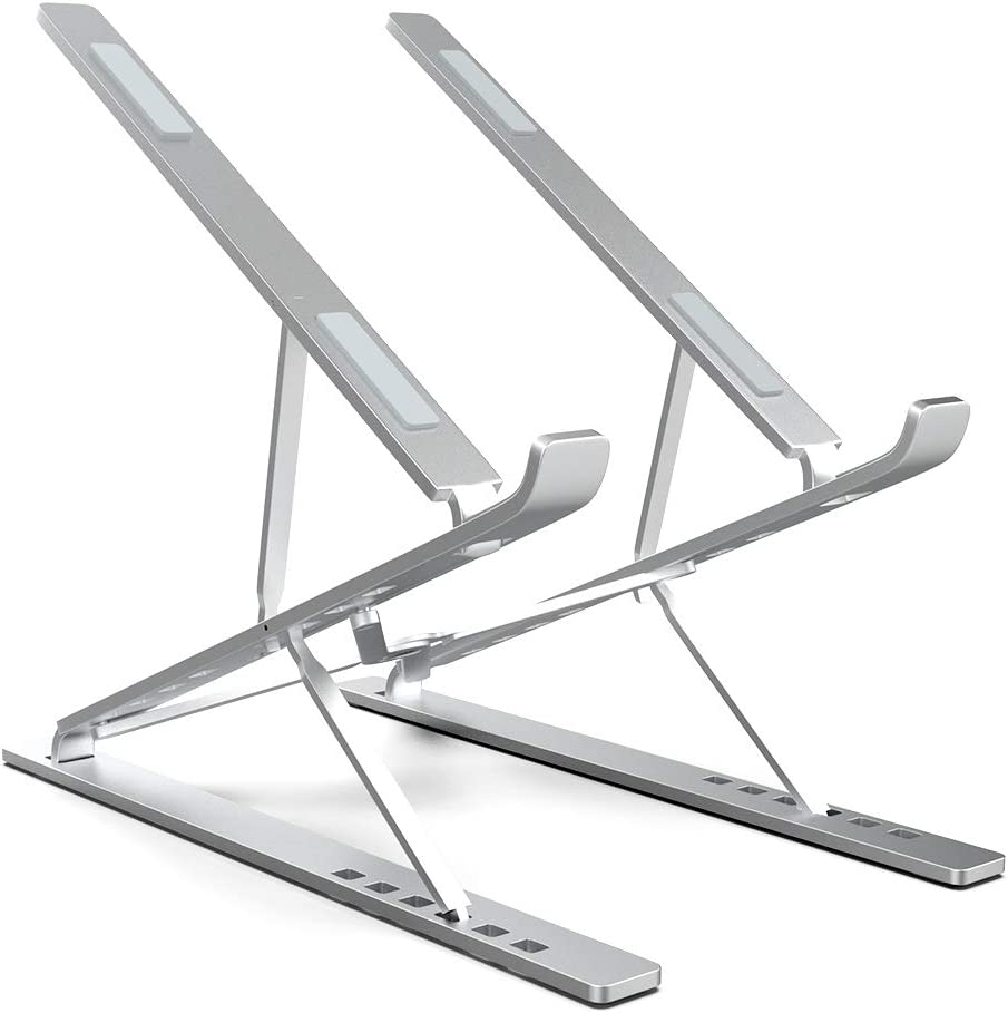 "ElfAnt Laptop Stand Adjustable Portable Aluminum for 10"" - 17"" Laptop Tablet iPad"