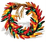 16 Inch Chili Pepper Wreath by Brilliant