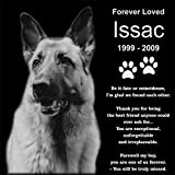 Personalized Pet Dog Cat Memorial 12''x12'' Engraved Black Granite Grave Marker Head Stone Plaque ISS1