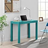 Ameriwood Home Parsons Teal Desk with Drawer