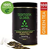 Teamonk Darjeeling Organic Green Tea for Weight Loss, 100g (50 Cups) | 100% Natural Loose Leaf Tea from Himalayas | Ahina Long Leaf Detox Green Tea for Weight Loss | No Additives