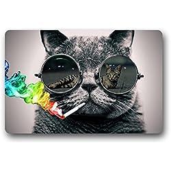 """TSlook Fashions Doormat Cool Sunglasses Cat Love Sexy Indoor/Outdoor/Front Welcome Door Mat(23.6""""x15.7"""",L x W)"""
