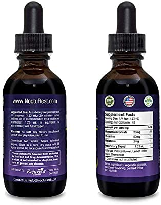 NoctuRest - Fast, Advanced Sleep Supplement | All-Natural Liquid Formula for 2X Absorption | Melatonin, Magnesium, Chamomile & More