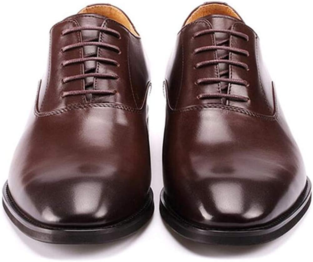 GOG Men Dress Oxfords Shoes Handmade Leather Height Increasing Elevator Shoes for Wedding