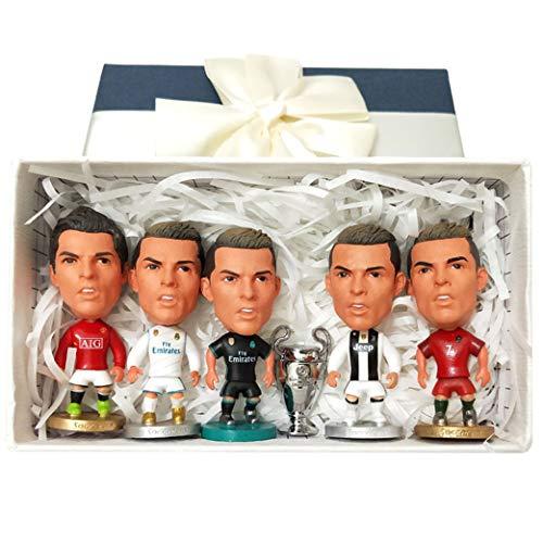 Cradifisho–Jugador de futbol, Fan del Real Madrid, Ronaldo, exquis Modelo, Liga de Campeones, muneca de la Liga de campeones, muneca Modelo, Regalo de cumpleanos, Regalo de noel- (5+ 1)