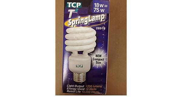 TCP 28918 18W Springlamp Compact Fluorescent Light Bulb