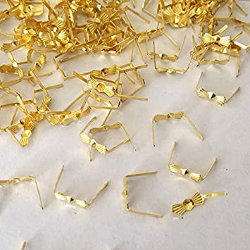ZP01 Chandelier Connectors Clips Pins For Fastening Crystals Parts Gold Prism Pins Chandelier Replacements 300pcs