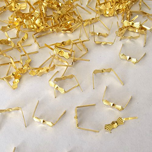 (ZP02 Chandelier Connectors Clips Pins For Fastening Crystals Parts, Chandelier Replacements 300pcs (Gold))