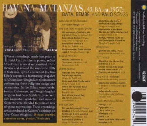 Havana & Matanzas, Cuba 1957: Bata, Bembe and Palo Songs