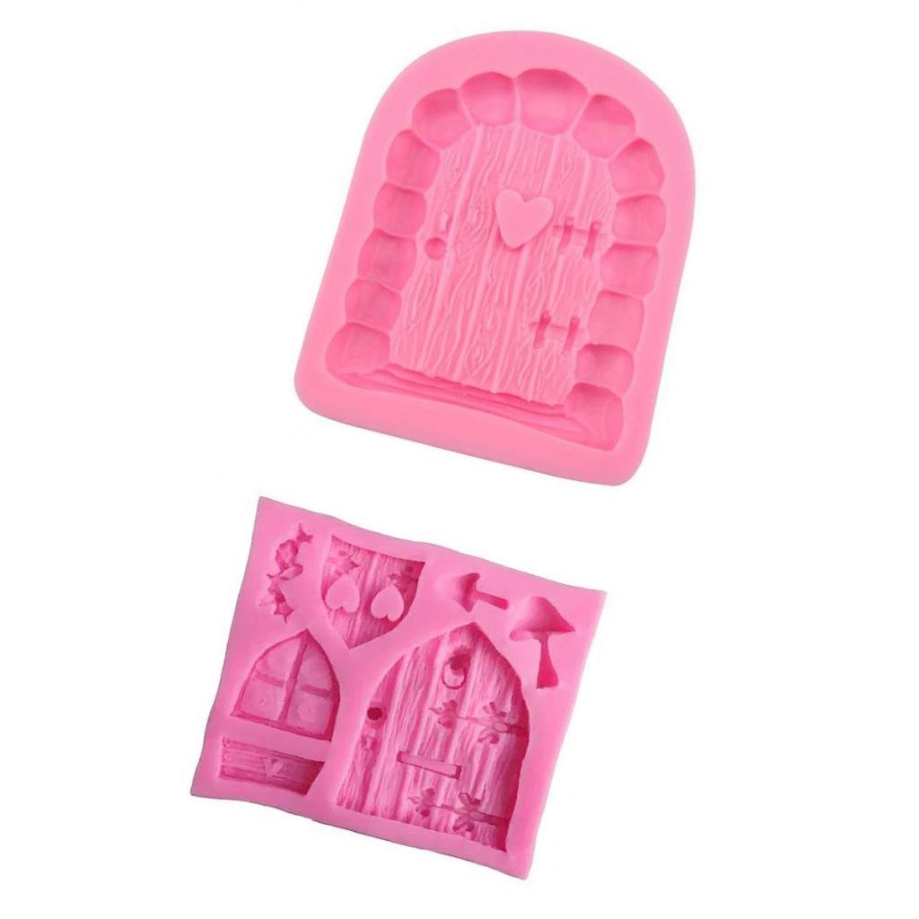 Dovewill 2pcs Silicone Cake Window Door Mould Cupcake Decorating Chocolate Mold Pink by Dovewill (Image #10)