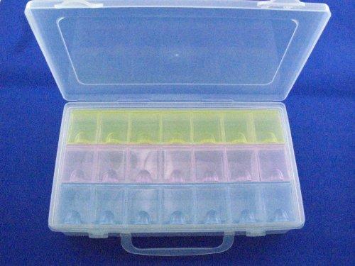 2pcs/lot,Electronic Components Storage Box, 21 lattice/blocks, Large-space,Component Parts Box,22.5*13*5.4cm
