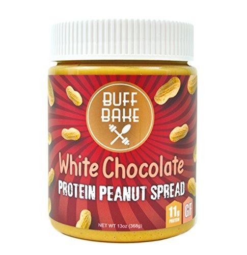 Buff Bake - Protein Peanut Spread - White Chocolate - Chia & Flax - 13 oz. Jar