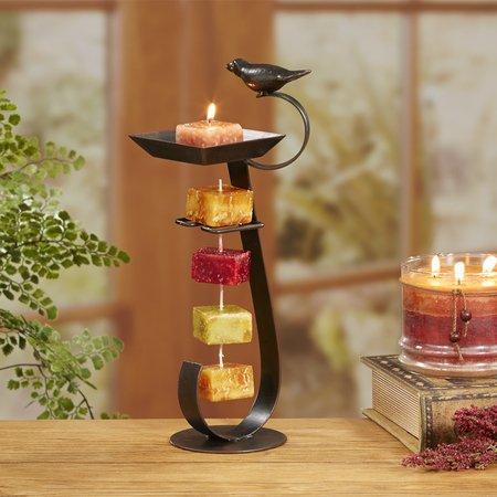 Deco Flair Rope Tealight Votive Candle Holder Bronze Bird Bath, String of (Flair Five Light Bath)