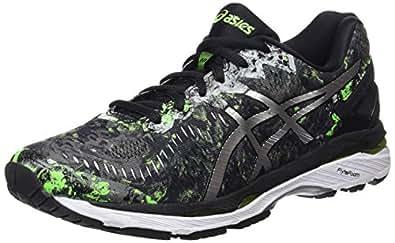 Asics Gel-Kayano 23, Zapatillas de Running para Hombre , color: Negro (Black/Silver/Green Gecko),  40.5 EU (6.5 UK)