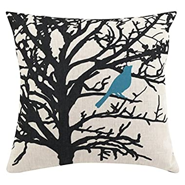 Square Cartoon Animal Printed Cushion Cover ChezMax Cotton Throw Pillow Case Sham Slipover Pillowslip Pillowcase For Hotel Decorative Decor Chair Sofa Couch