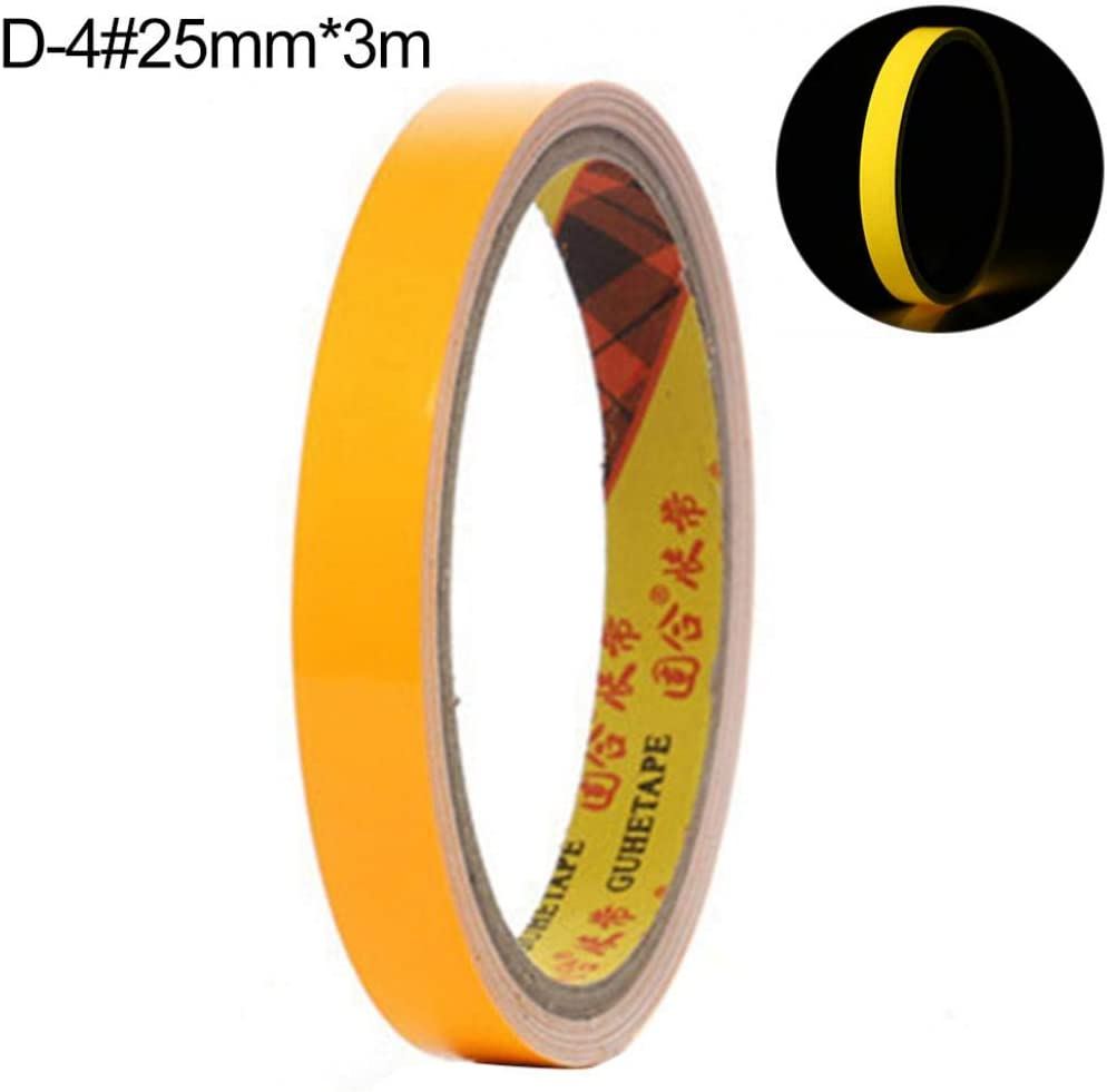 Ruban adh/ésif r/éfl/échissant pour escaliers 10mm*3m Orange