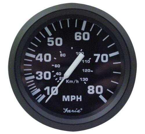 Faria 32812 Speedometer-80 MPH, Euro ()