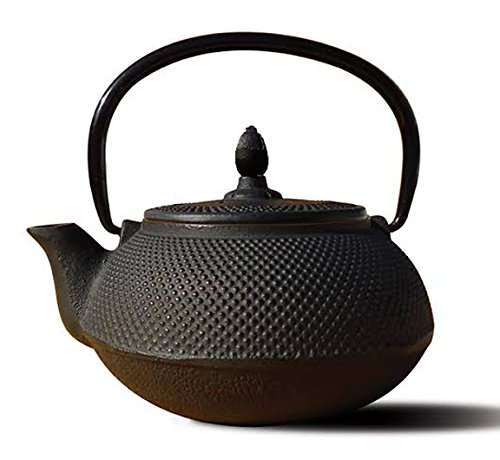 Happy Sales Happy Sales Cast Iron Teapot 40 oz ARR Black, Black