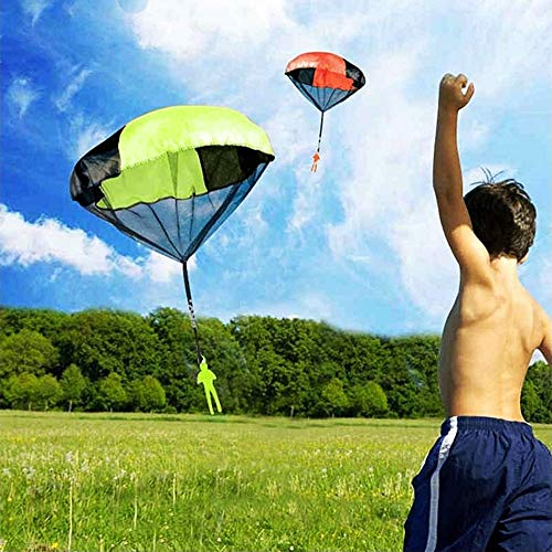 AmFor 10 Pcs Parachute Toys, Kids Tangle Free Throwing Toys Outdoor Flying Toys with Hand Throwing No Batteries for Boys Girls Holiday Birthday Gifts by AmFor (Image #3)