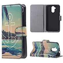 For Acer Liquid Z410 Case Synthetic Leather Wallet Cell Phone Cases Protective Cover Seascape Amaxy