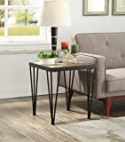 Vintage Brown Black Metal Frame Side End Table with Nailheads Review