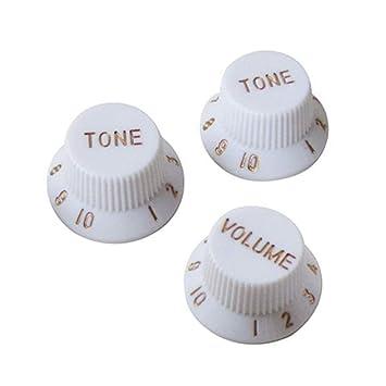 healifty puños de plástico para puños de ajuste volumen tono Guitarra de plástico 3pcs para Fender Strat ST partes de guitarra eléctrica para Stratocaster ...