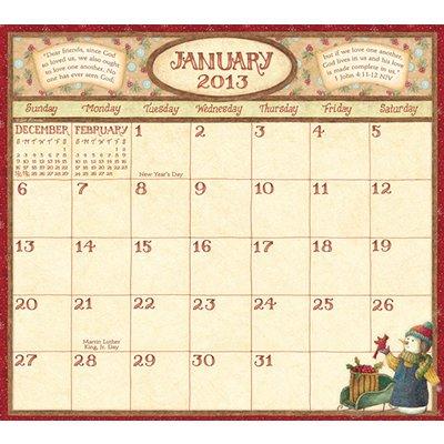 2013 Calendar Faithful Moments 2013 Magnetic Mount Wall Calendar