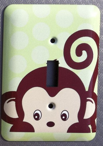 Monkey Jungle Nursery Single Toggle Lightswitch Plate Cover Jessies Designs